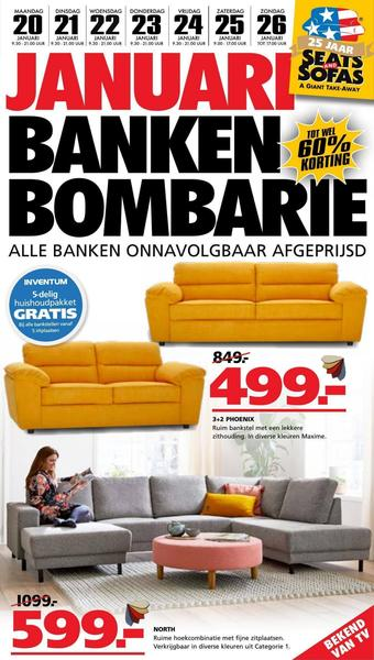Seats and Sofas reclame folder (geldig t/m 26-01)