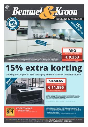 Bemmel & Kroon reclame folder (geldig t/m 26-01)