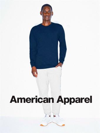 American Apparel reclame folder (geldig t/m 19-03)