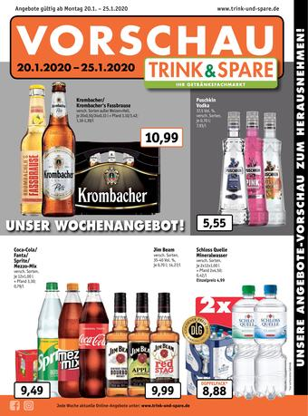 Trink und Spare Prospekt (bis einschl. 25-01)
