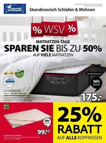 Dänisches Bettenlager Werbeflugblatt (bis einschl. 26-01)