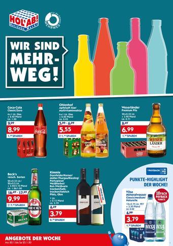 Hol'ab Getränkemarkt Prospekt (bis einschl. 25-01)