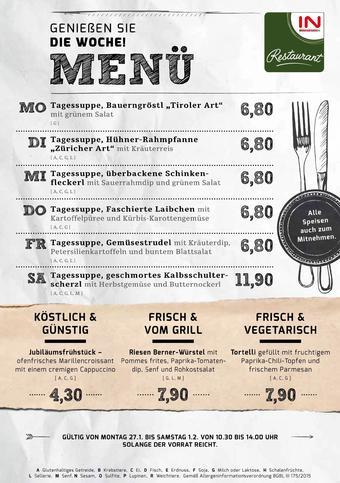 Interspar Restaurant Werbeflugblatt (bis einschl. 01-02)