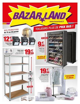 Bazarland catalogue publicitaire (valable jusqu'au 26-01)