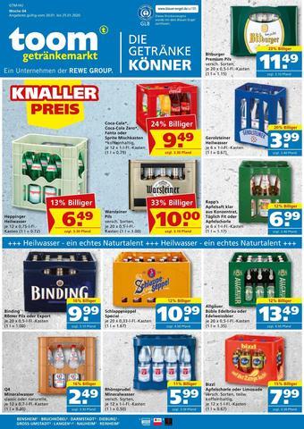 toom Getränkemarkt Prospekt (bis einschl. 25-01)