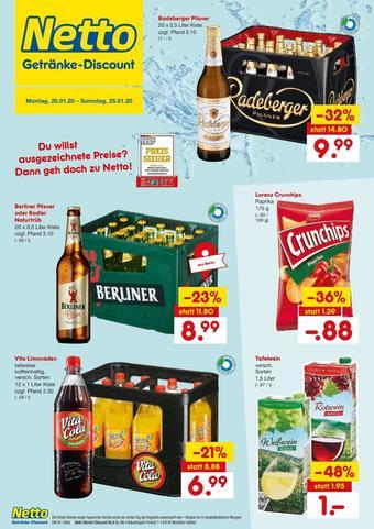 Netto Getränke Discount Prospekt (bis einschl. 25-01)