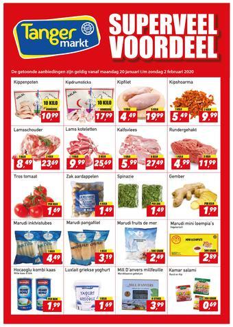 Tanger Markt reclame folder (geldig t/m 02-02)