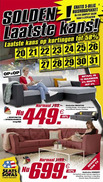 Seats and Sofas reclame folder (geldig t/m 31-01)