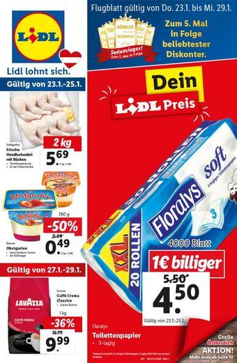 Lidl Werbeflugblatt (bis einschl. 29-01)