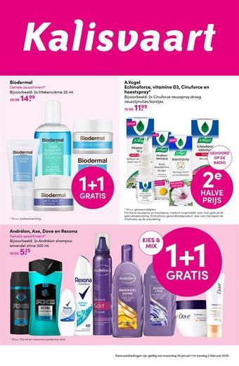 Kalisvaart Drogisterij Beautystore reclame folder (geldig t/m 02-02)