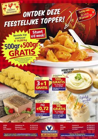 Vleesmeester reclame folder (geldig t/m 28-01)