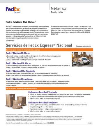 FedEx catálogo (válido hasta 11-01)