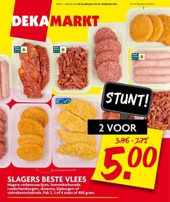 Dekamarkt reclame folder (geldig t/m 01-02)