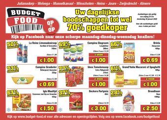 Budget Food reclame folder (geldig t/m 30-01)