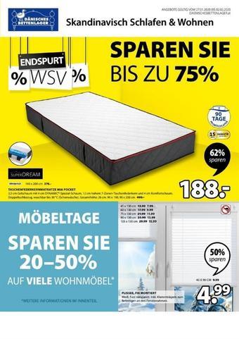 Dänisches Bettenlager Werbeflugblatt (bis einschl. 02-02)