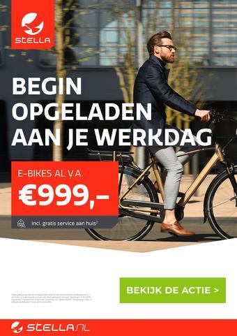 Stella fietsen reclame folder (geldig t/m 01-02)
