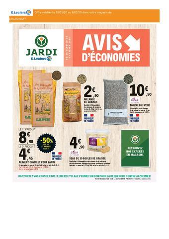 E.Leclerc Jardi catalogue publicitaire (valable jusqu'au 08-02)
