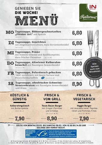 Interspar Restaurant Werbeflugblatt (bis einschl. 08-02)