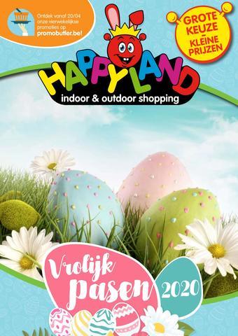 Happyland reclame folder (geldig t/m 19-04)