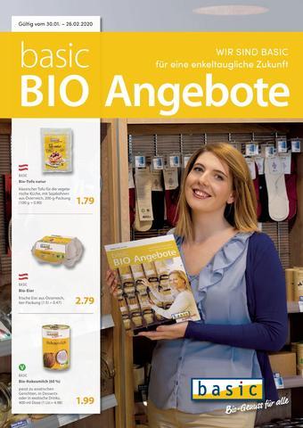 Basic Biomarkt Werbeflugblatt (bis einschl. 26-02)