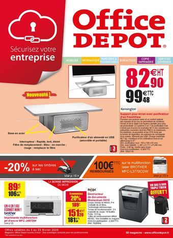 Office Depot catalogue publicitaire (valable jusqu'au 23-02)