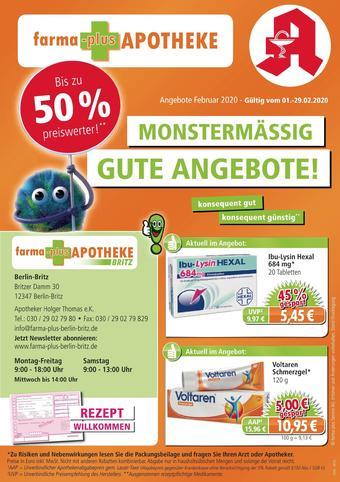 farma-plus Apotheken Prospekt (bis einschl. 29-02)