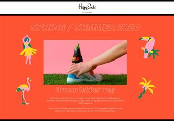 Happy Socks reclame folder (geldig t/m 30-03)