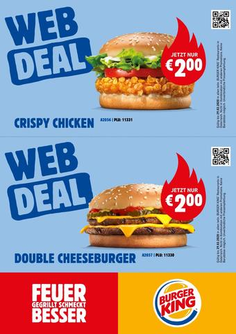 Burger King Werbeflugblatt (bis einschl. 29-02)