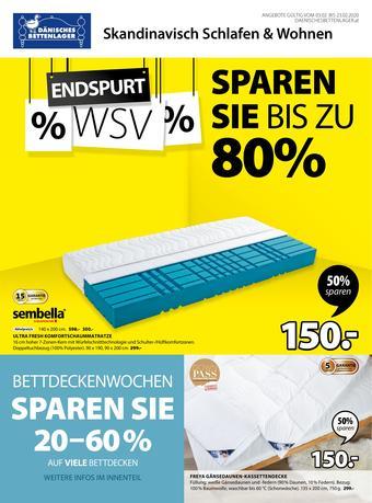 Dänisches Bettenlager Werbeflugblatt (bis einschl. 23-02)