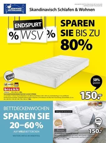 Dänisches Bettenlager Prospekt (bis einschl. 16-02)