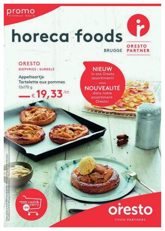 Horeca Foods reclame folder (geldig t/m 29-02)