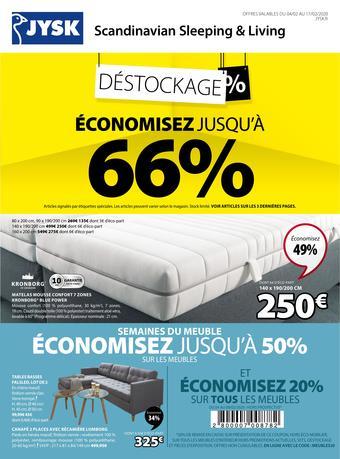 JYSK catalogue publicitaire (valable jusqu'au 17-02)