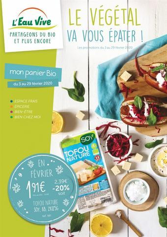 L'Eau Vive catalogue publicitaire (valable jusqu'au 29-02)