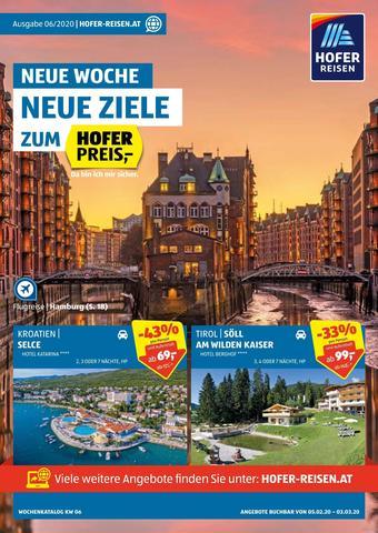 Hofer Reisen Werbeflugblatt (bis einschl. 03-03)