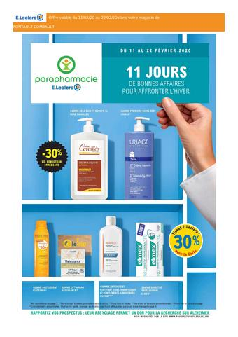 E.Leclerc Parapharmacie catalogue publicitaire (valable jusqu'au 22-02)
