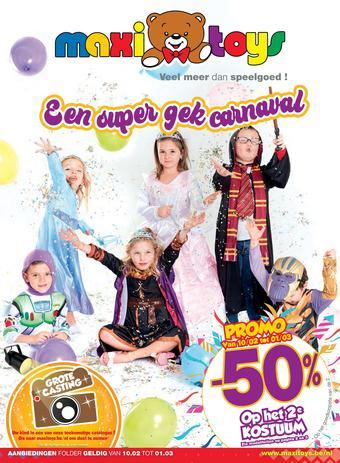 Maxi Toys reclame folder (geldig t/m 01-03)