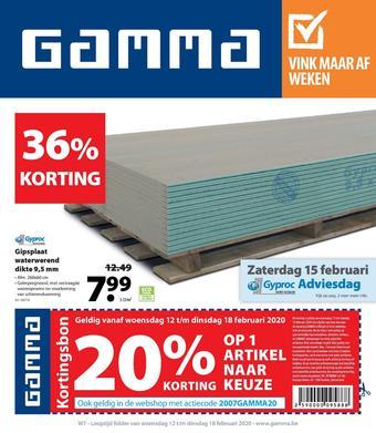 GAMMA reclame folder (geldig t/m 18-02)