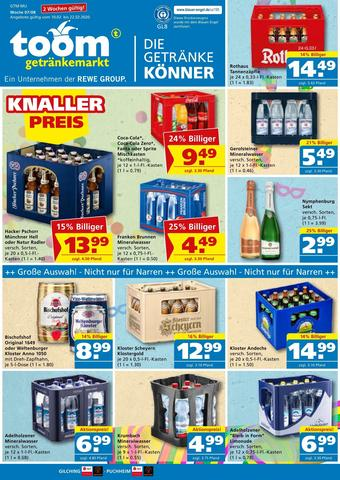 toom Getränkemarkt Prospekt (bis einschl. 22-02)