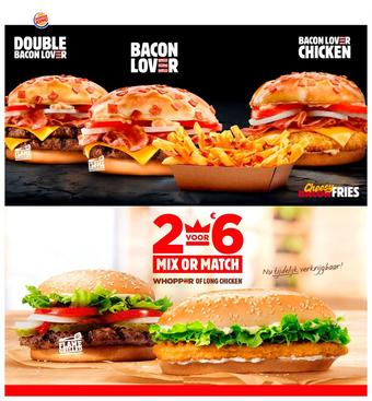 Burger King reclame folder (geldig t/m 01-03)