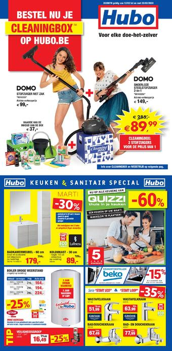 Hubo reclame folder (geldig t/m 23-02)