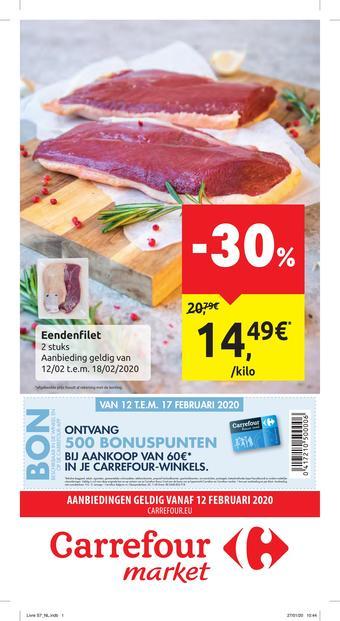 Carrefour Market reclame folder (geldig t/m 24-02)