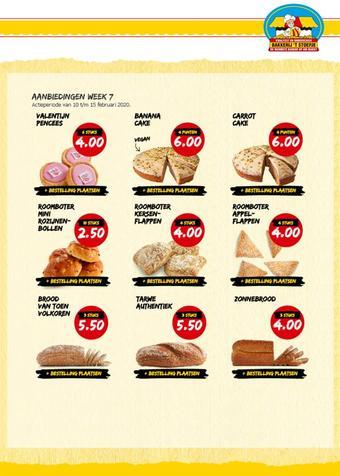 Bakkerij 't Stoepje reclame folder (geldig t/m 23-02)