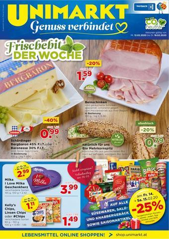 Unimarkt Werbeflugblatt (bis einschl. 18-02)