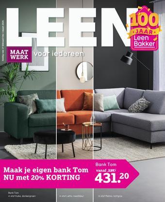 Leen Bakker reclame folder (geldig t/m 01-03)