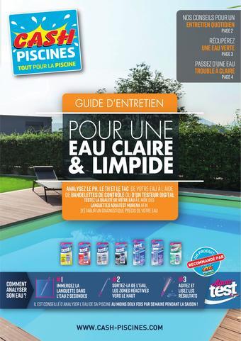 Cash Piscines catalogue publicitaire (valable jusqu'au 30-04)