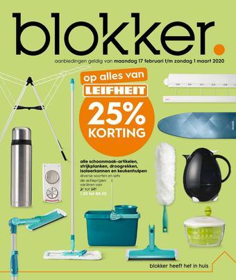 Blokker reclame folder (geldig t/m 01-03)
