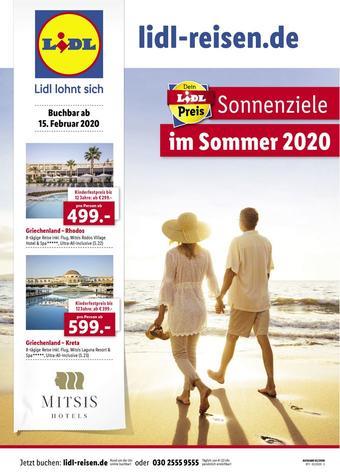 Lidl Reisen Prospekt (bis einschl. 14-03)