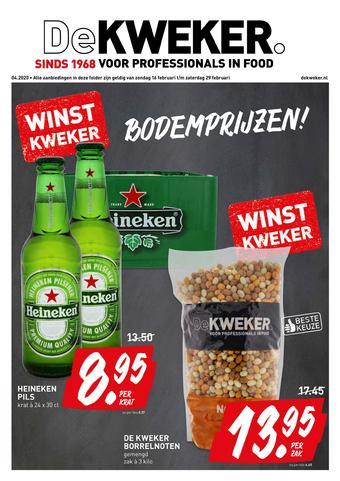De Kweker reclame folder (geldig t/m 29-02)