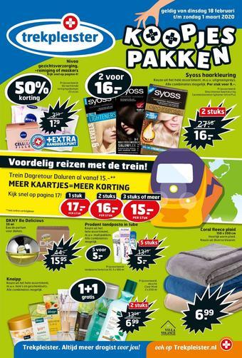 Trekpleister reclame folder (geldig t/m 01-03)