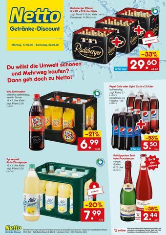 Netto Getränke Discount Prospekt (bis einschl. 22-02)